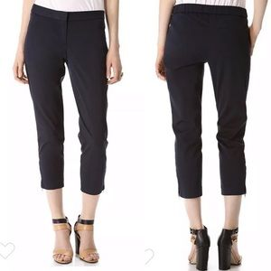Theory cotton twill stretch crop dress pants sz 2